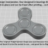 Fidget Spinner - One-Piece-Print / No Bearings Required! image