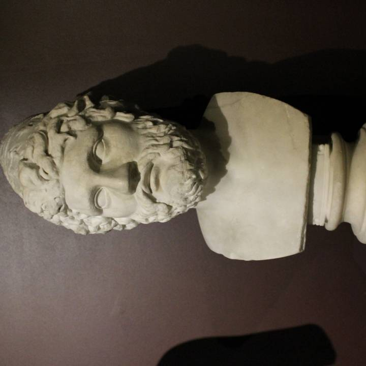 Roman marble head of Odysseus