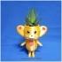 Cute animal - lemur king potted image