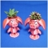 Cute animal - Rose pig potted image