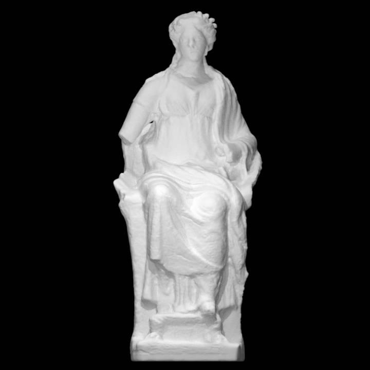 A Female Statue in a Reddish Terracotta