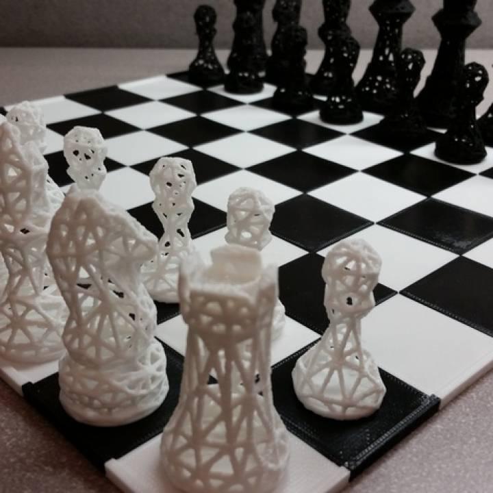 Chess Set Wireframe