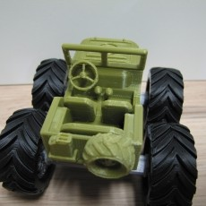Mini Monster Willy with rotating wheels