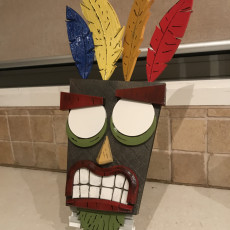 Picture of print of Aku Aku from Crash Bandicoot This print has been uploaded by anthony g