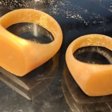 Picture of print of Round Square v2 Ring