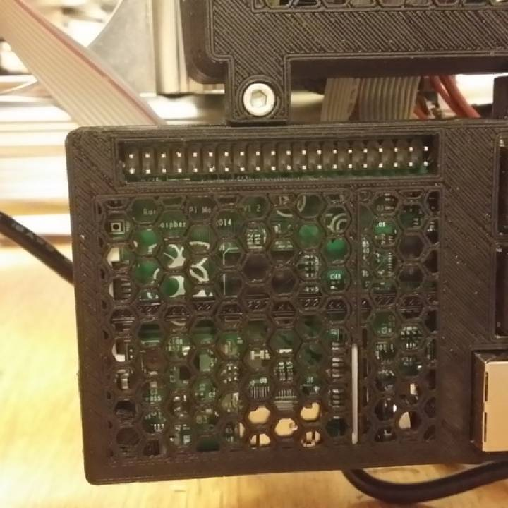 Raspberry Pi B+ cover with mounting lugs