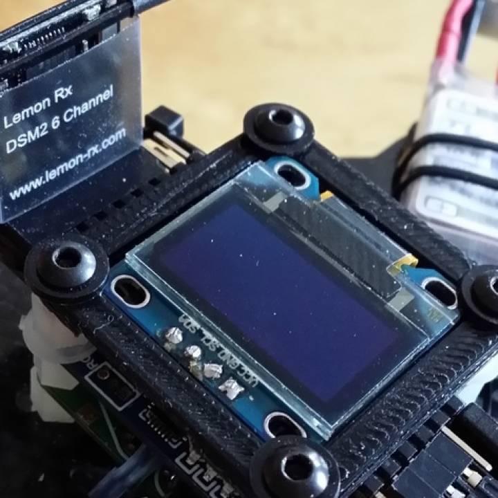Naze32 oled screen holder (controller stack version)