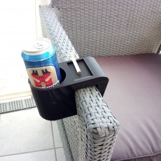 Beer Cigarettes Rattan Armchair Holder
