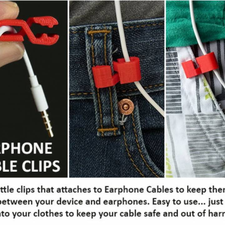 Earphone Cable Clip