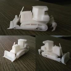 Easy to print Generic Bulldozer (esc: 1:100)