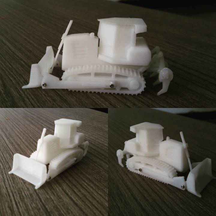Easy to print Generic Bulldozer (esc: 1:100)