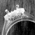 An engagement ring design for a 1.00ct round diamond with diamond set halo. 16 diamonds = 0.15ct  Finger size L ( 6 ) image