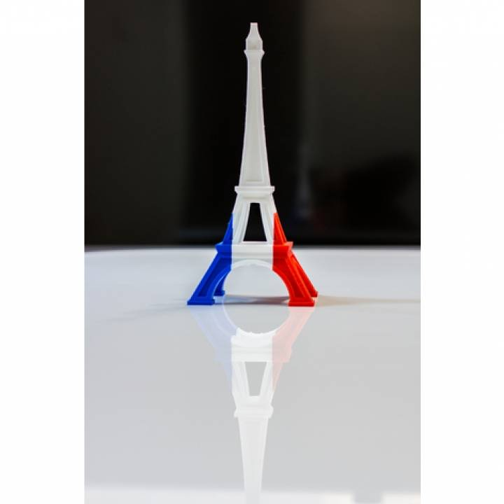 image regarding Printable French Flag identify 3D Printable Multi-shade Eiffel Tower (French Flag) by means of