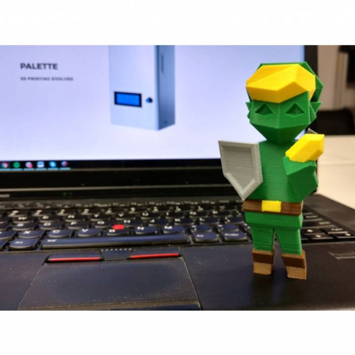 Multi-Color Low-Poly Link