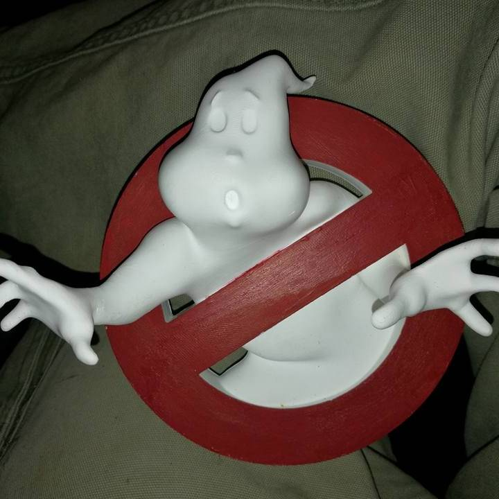 photograph regarding Ghostbusters Logo Printable named 3D Printable Ghostbusters Symbol as a result of Snorri Grisomson