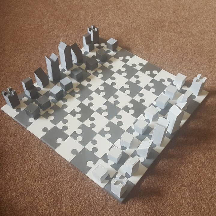 image relating to Printable Chess Board titled 3D Printable Chess Board and Lanier Graham Chess Fastened by means of Adam