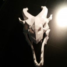 Picture of print of Dragon skull from Skyrim