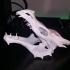 Dragon skull from Skyrim print image