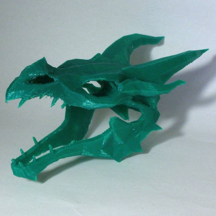 3d Printable Dragon Skull From Skyrim By Derek