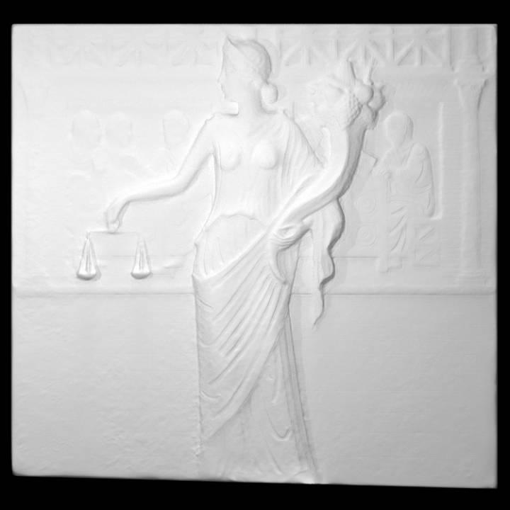 Relief depicting the Goddess Moneta
