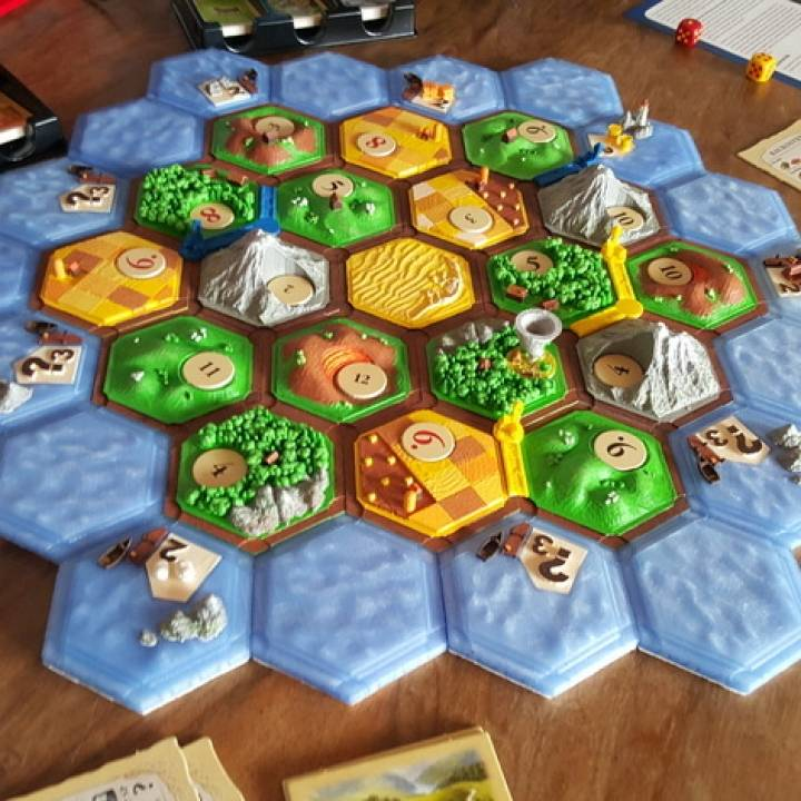 Smart image throughout settlers of catan printable