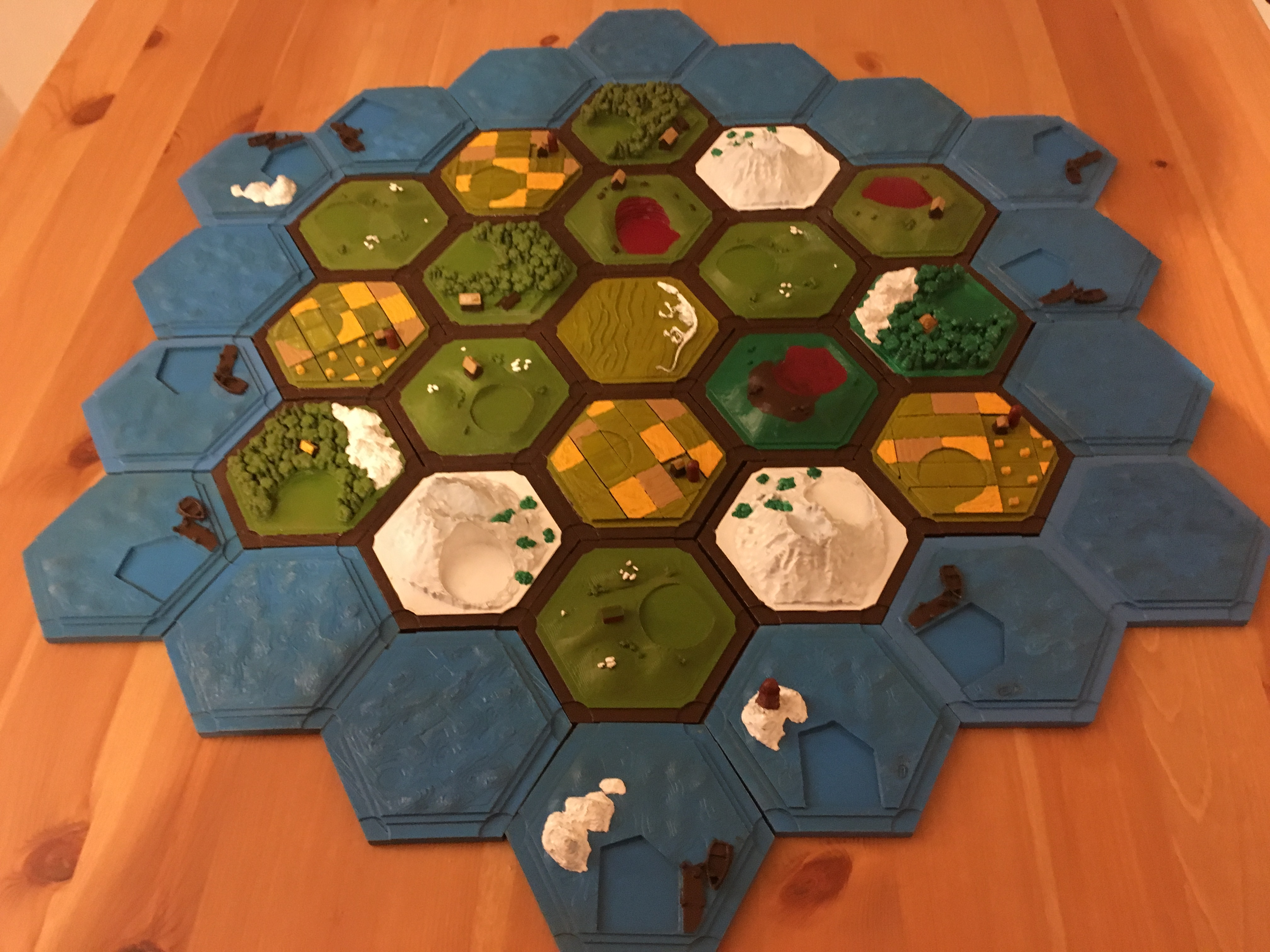 photo about Settlers of Catan Printable known as 3D Printable Settler of catan variety (magnetic) by means of Moe