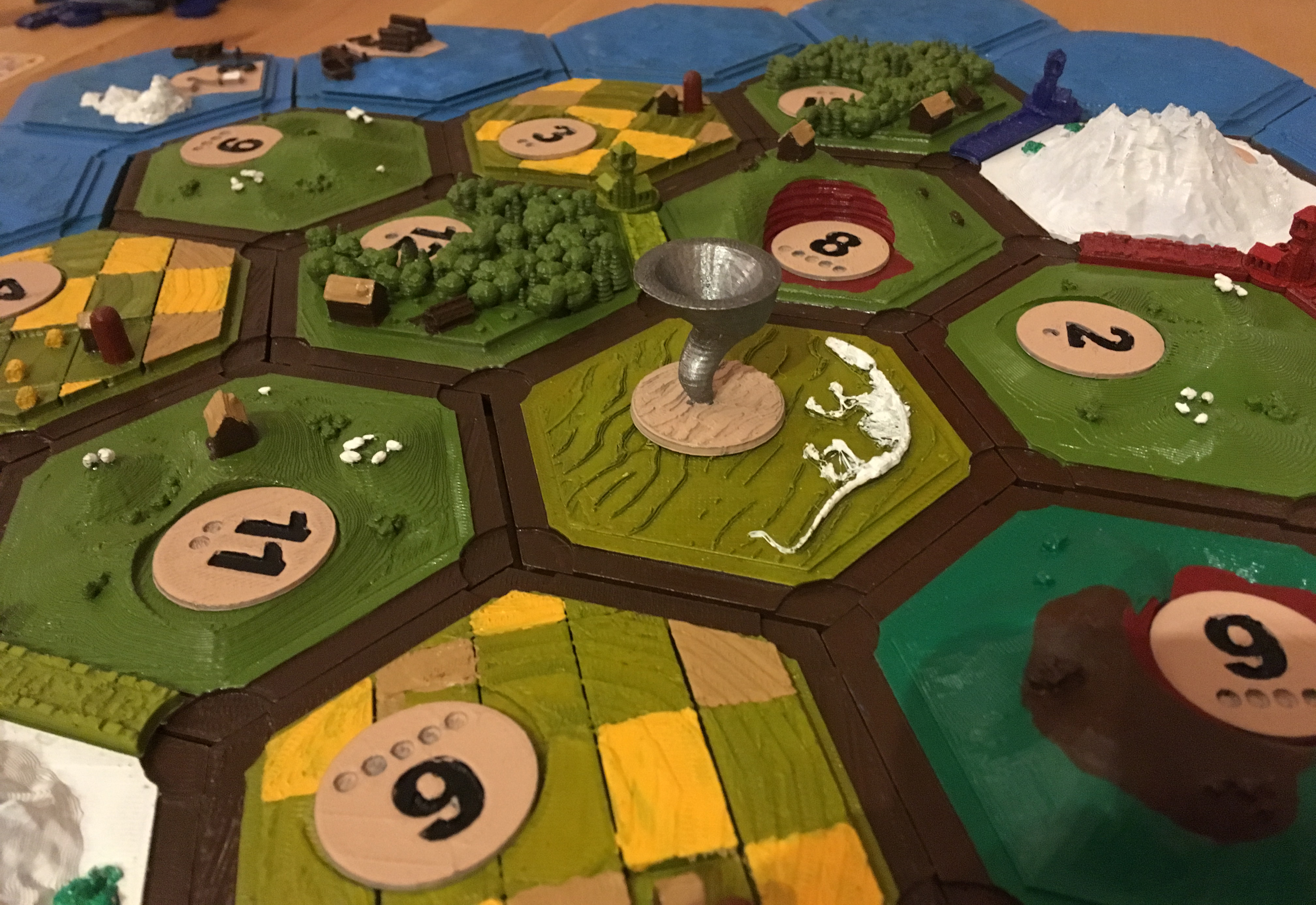 image relating to Settlers of Catan Printable identified as 3D Printable Settler of catan variety (magnetic) through Moe