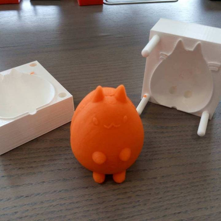 Cat Mould for Modelling Clay