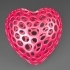 Heart with slot on one side - Voronoi Style image