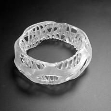 Beautiful Chunky Bracelet - Voronoi Style