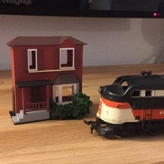 HO Scale Model Train Home