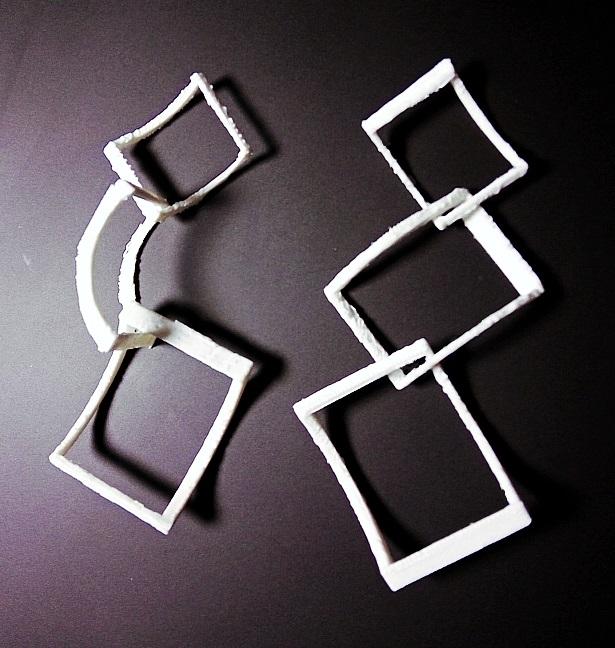 Falling Squares Earrings