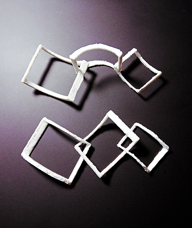 Falling Squares Earrings image