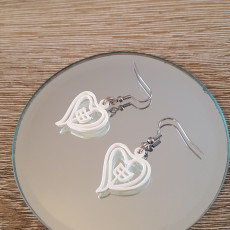 Picture of print of Zodiac Monkey Heart Earring