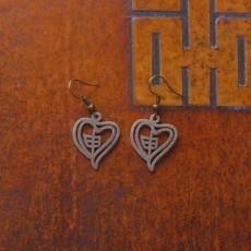 Zodiac Monkey Heart Earring