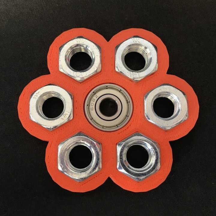 Small Hex-Hex Fidget Spinner