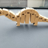 Twists & bends Brontosaurus by orangeteacher print image
