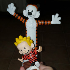 Picture of print of Calvin and Hobbes