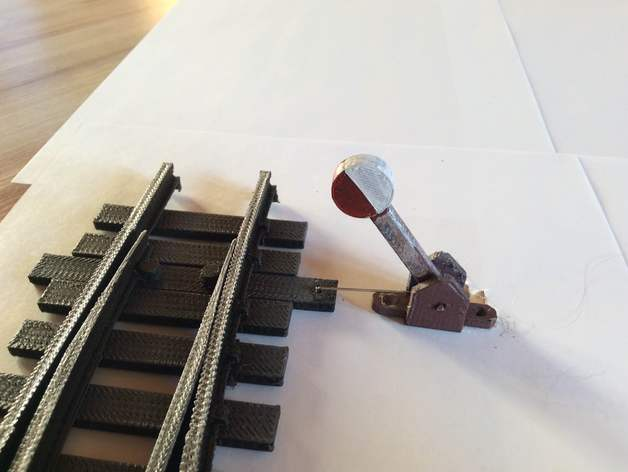 Turnout Lever for Garden Railway System
