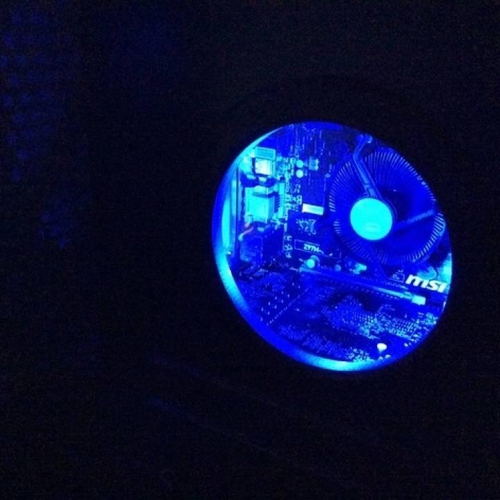 Pc Case Mod - Round Window with LED
