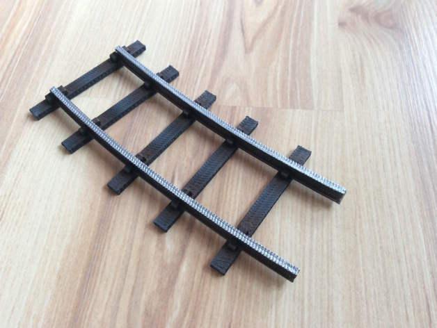 Curve 600mm Radius for Garden Railway Track System (45mm)