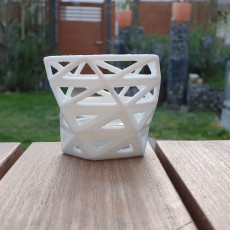 Picture of print of low poly style Orchid pot / planter