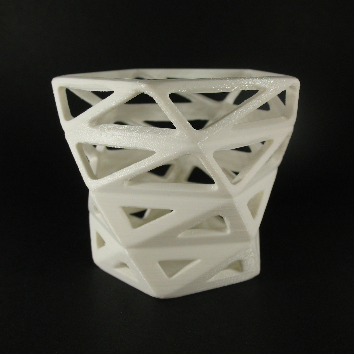 low poly style Orchid pot / planter image