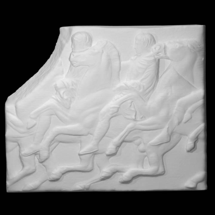 Parthenon Frieze _ North XLII, 115-116-117