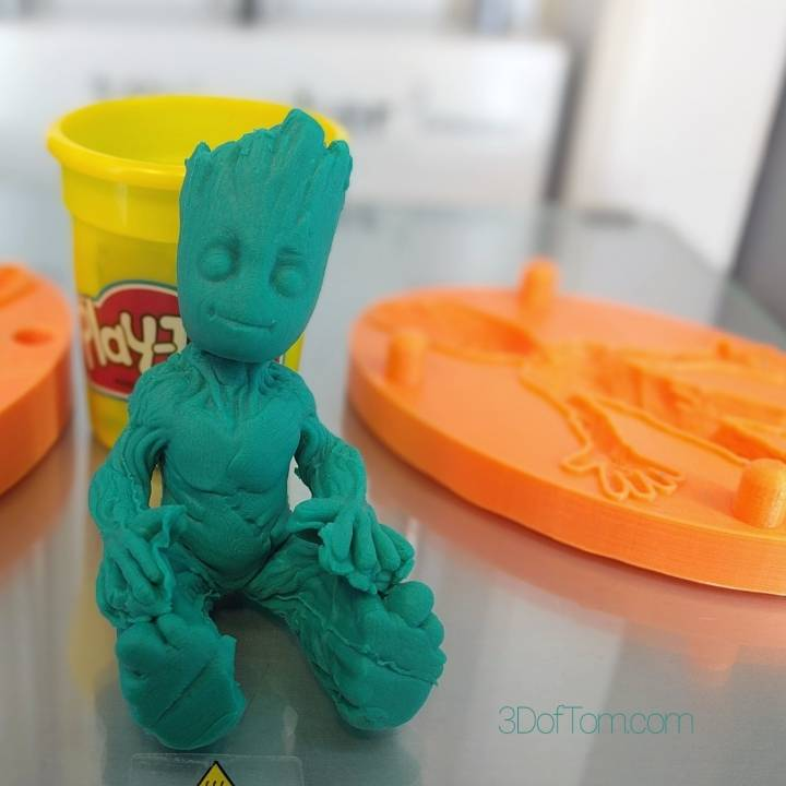 Baby Groot Clay Mold