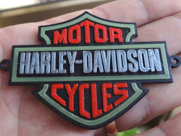 Harley Davidson Colors >> Download 4 Colors Harley Davidson Logo Da Davide Dalfiume