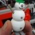 4 colors snowman image