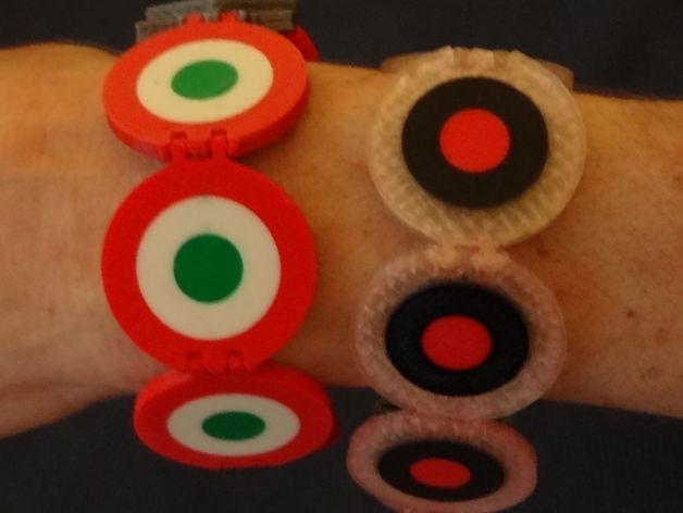 Aeronautic style bracelet
