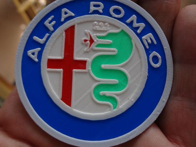 4 colors Alfa Romeo Logo