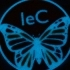 Phosphorescent butterfly with logo image